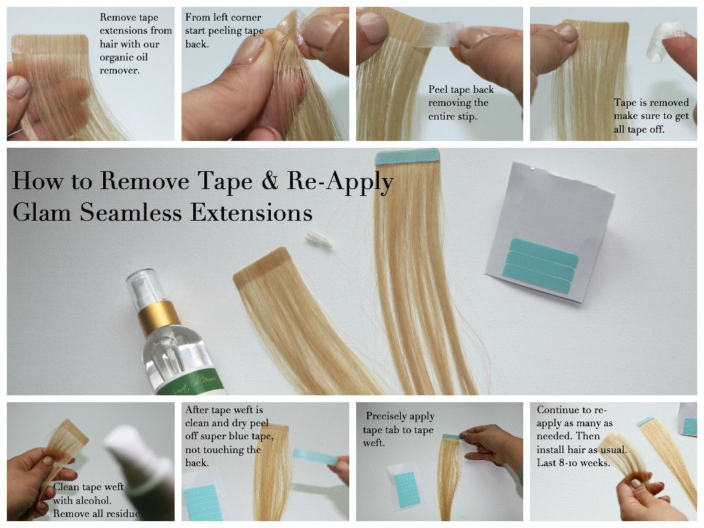 Learn the methods used for tape in hair extensions on line training