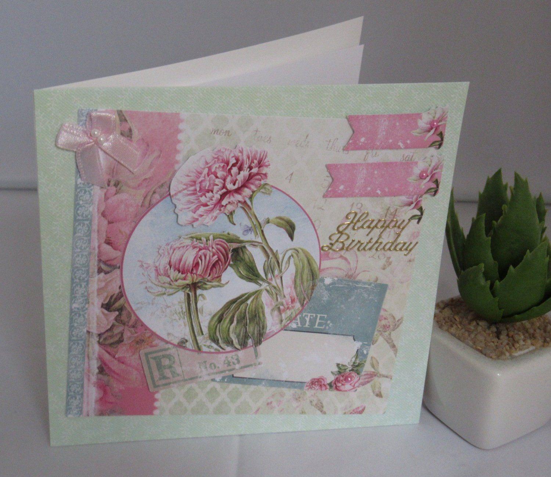 Geburtstagskarte Blumen Handgemacht Von Kartengaleriedoris Auf