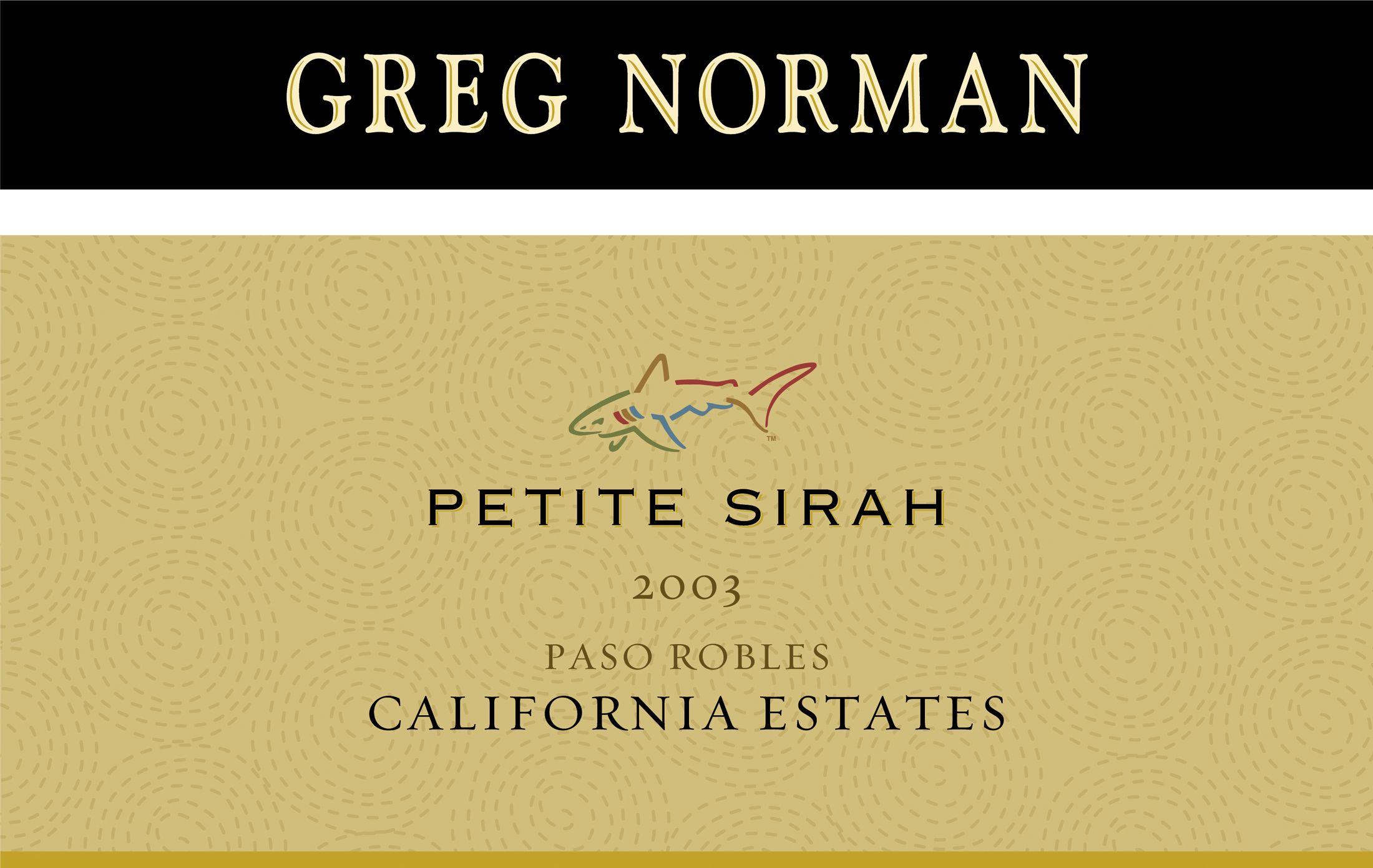 Petite Sirah 2003 Greg Norman Petite Sirah Golf Inspiration Greg Norman