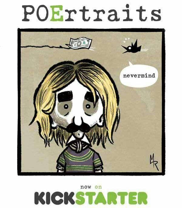 Poe y Nirvana #nevermind #nevermore #poertraits