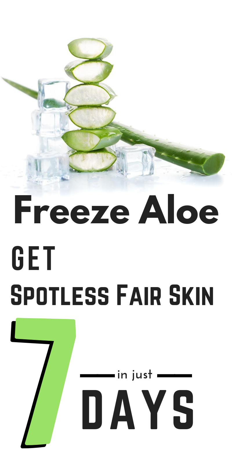 Freeze Aloe Best Remedy To Get Rid Of Spots On Your Face Skin Care Skin Care Tips Beauty Care