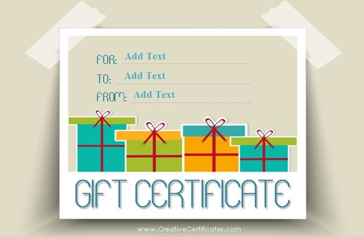 173 Custom Gift Certificate Templates for Every Occassion | Free ...