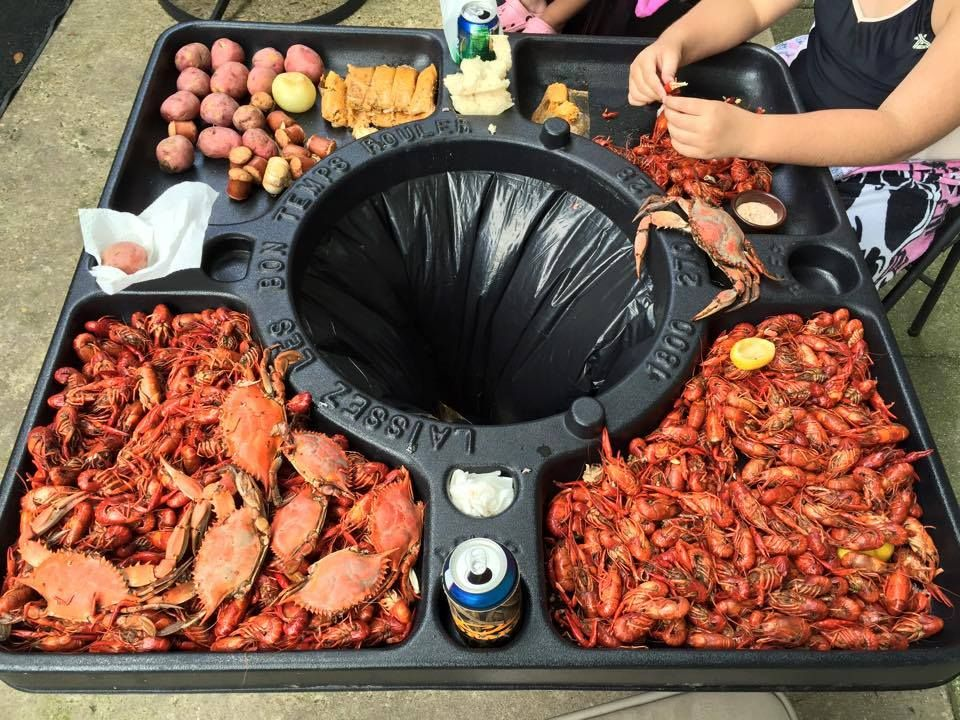 Crawfish Table On A Garbage Can   Genius