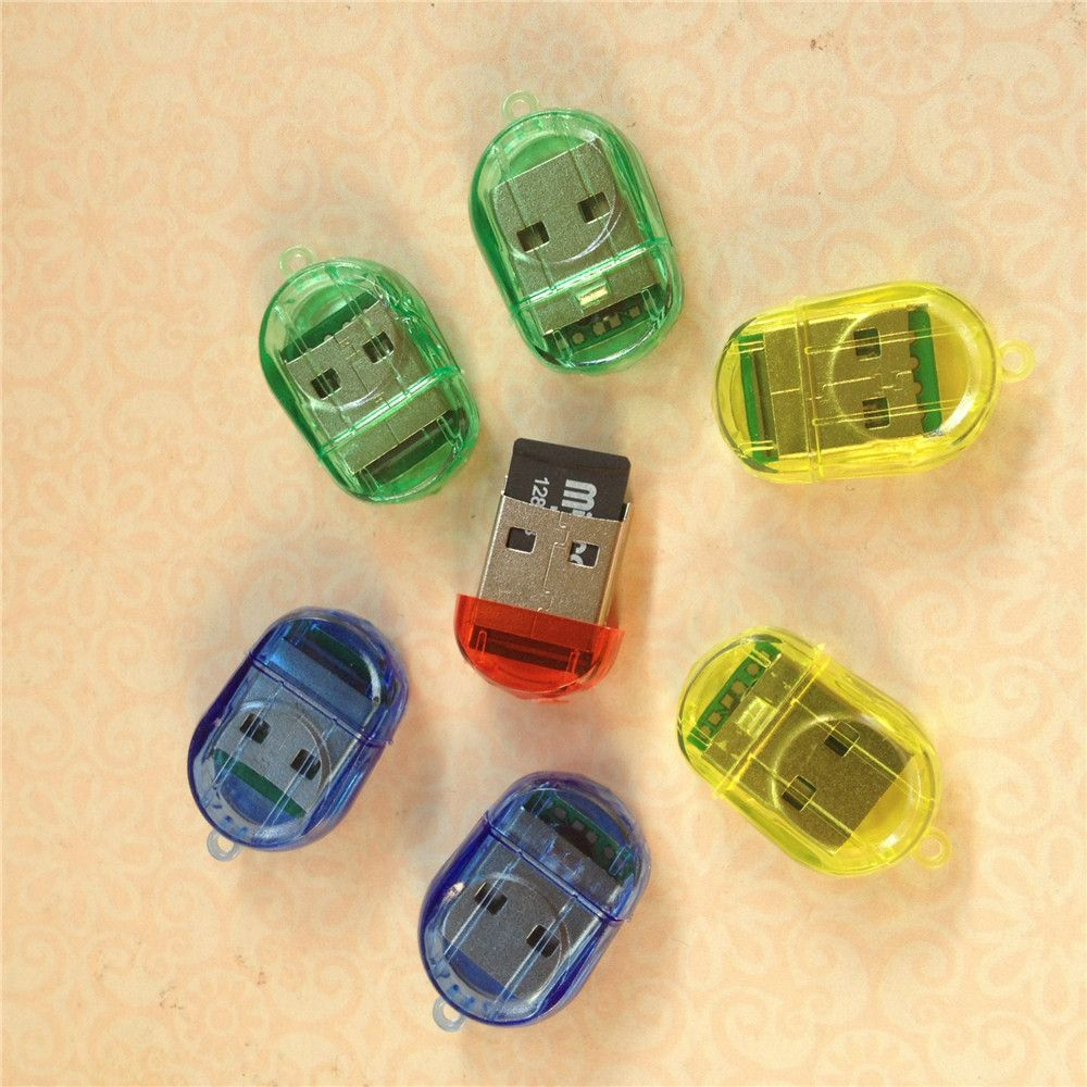 Nueva llegada creativa firefly interna lector de tarjetas mini usb de alta velocidad 2.0 lector de tarjetas del tf microsd tarjeta de memoria móvil