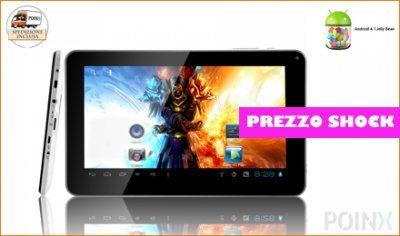 "Tablet 9"" con il nuovissimo sistema Android 4.1 JellyBean a 89.99€"