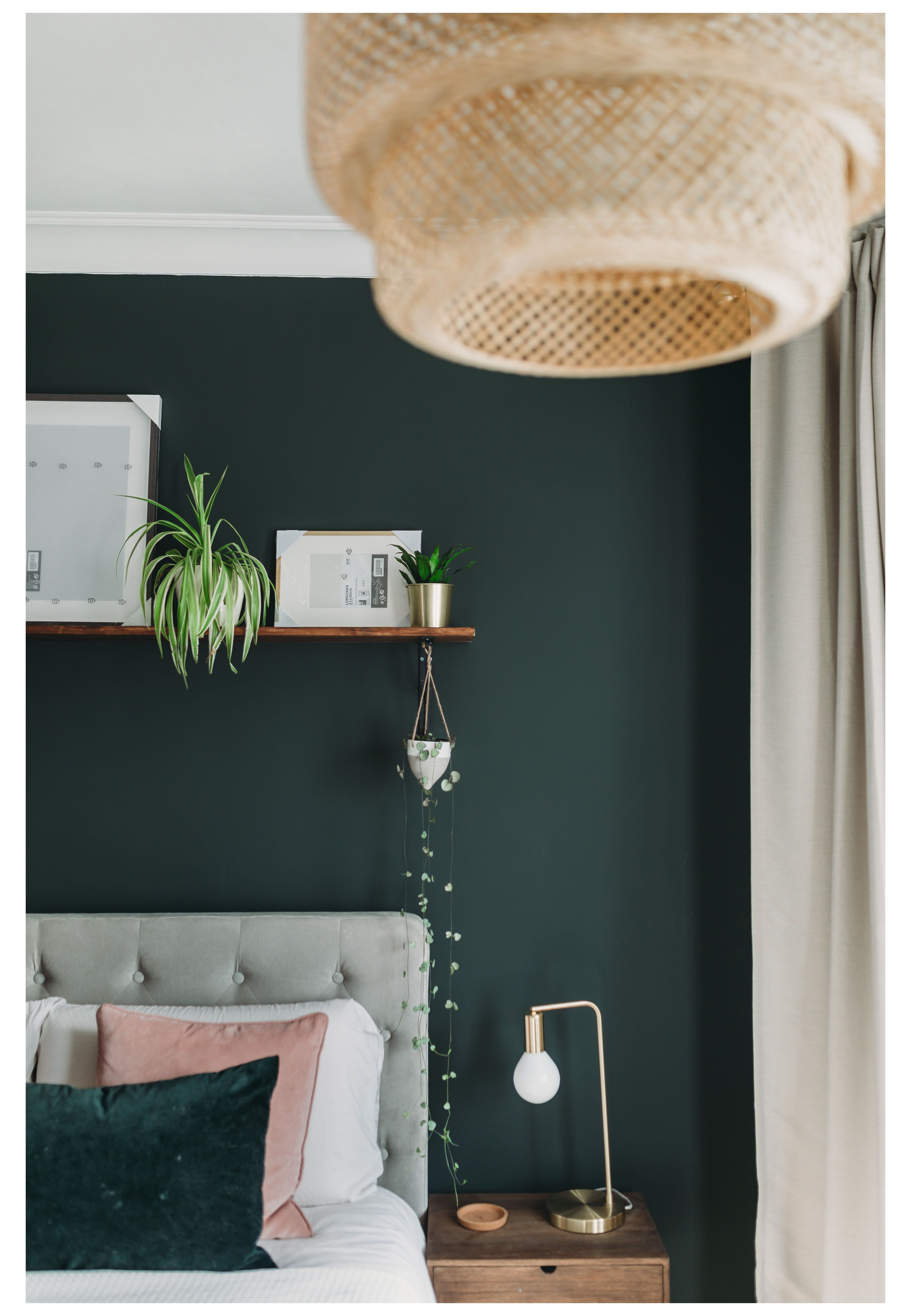 Master bedroom makeover inspo, Dark Green Bedroom Makeover