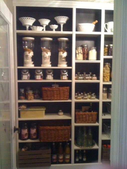 Walk In Pantry Created From Ikea Billy Bookcases Trim And Extra Shelves Love