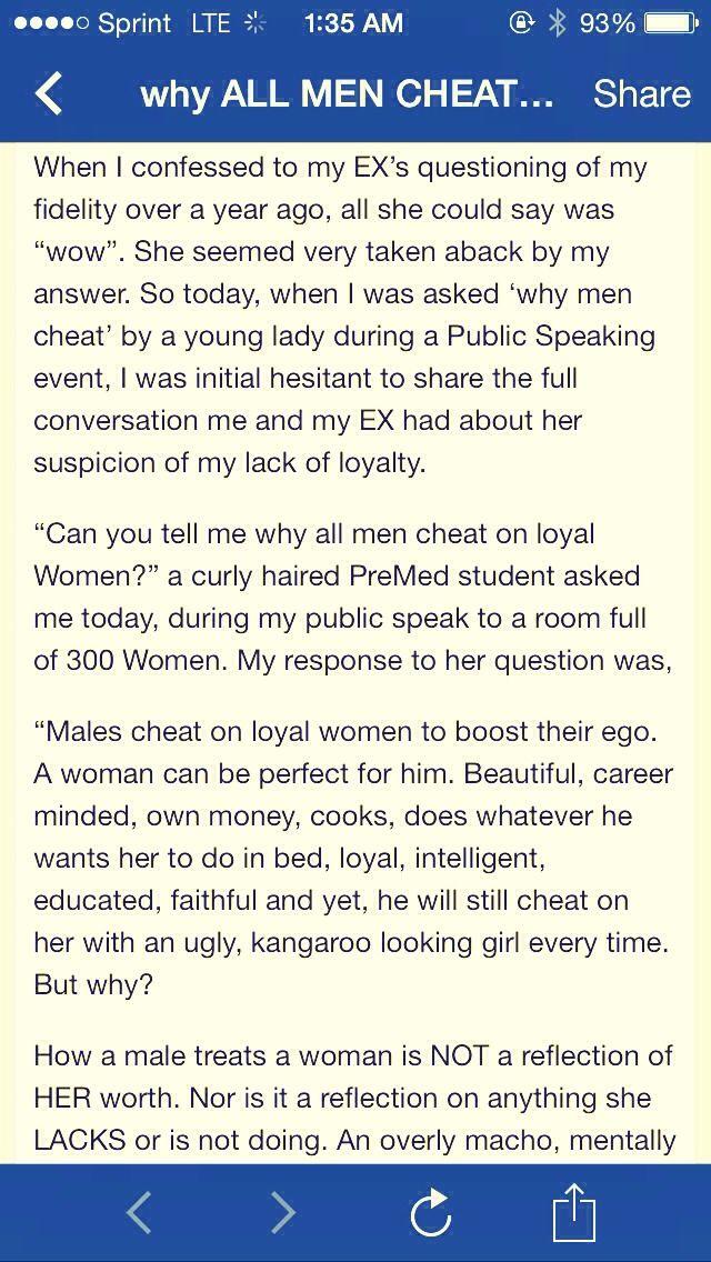 Why Do Men Cheat On Beautiful Women