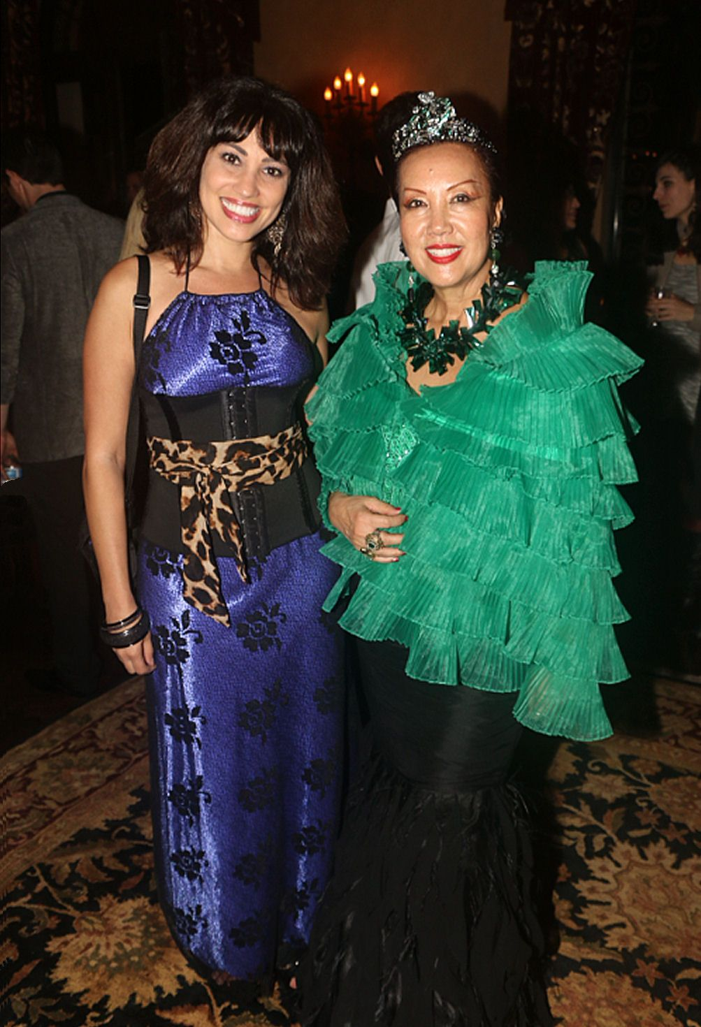 #Actress #LisaCatara with fashion Icon #SueWong after Sue's 2014 runway show in #LosAngeles. Lisa is wearing one of her own creations for L.Tarantino Designs (#Actresses #fashion #design #runway #collections #TV #film #television #filmmaking #cleveland #IMDB #Hollywood #movies #drama #Celebrities).