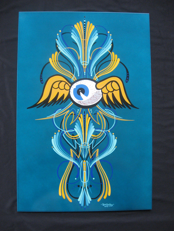 Flying eyeball scroll pinstriping pinstriping crazy paint flying eyeball scroll pinstriping publicscrutiny Gallery