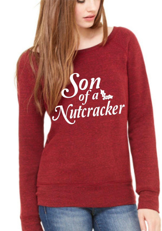 Son Of A Nutcracker Ladies Sponge Fleece Wide Neck Sweatshirt