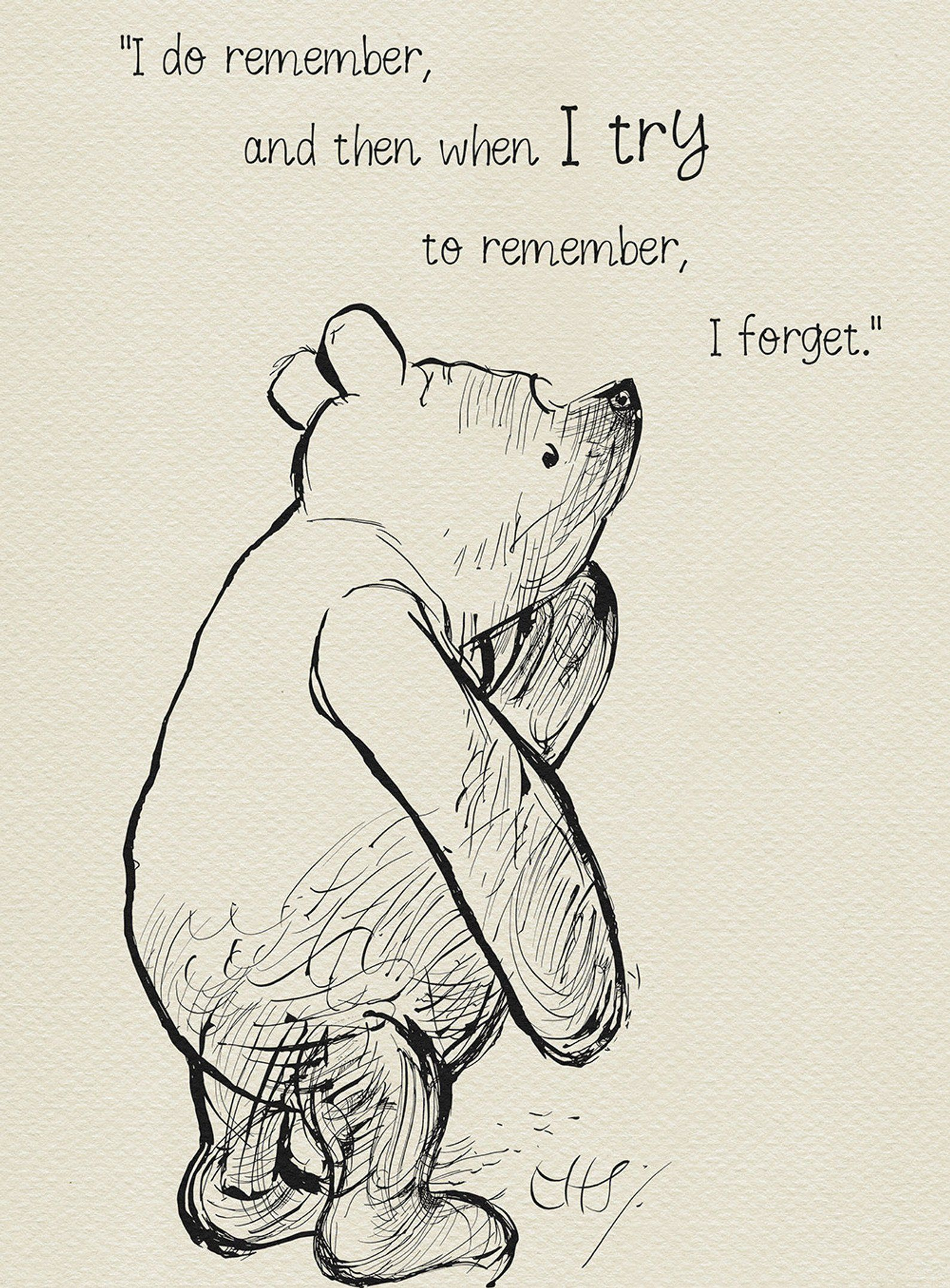 I do remember and then when I try to remember I forget | Etsy