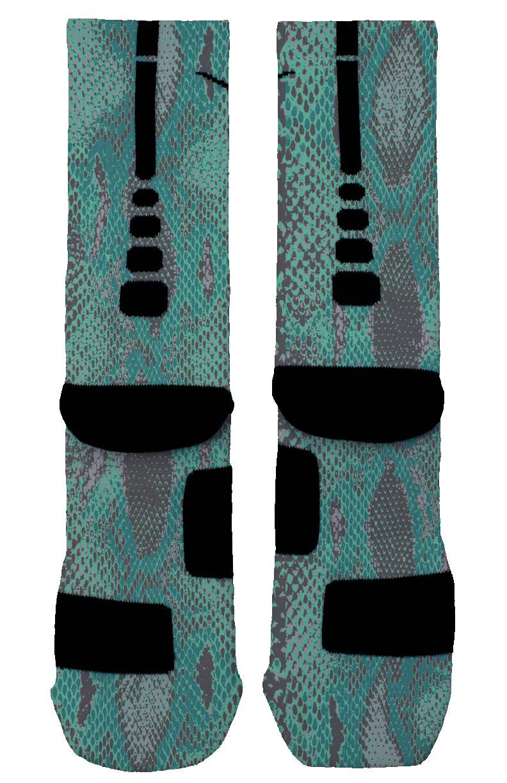 Blue Snake Skin Custom Nike Elites