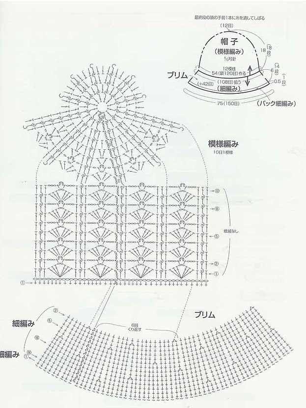 schema per cappellino IMG44712JPG | diy | Pinterest | Gorros ...