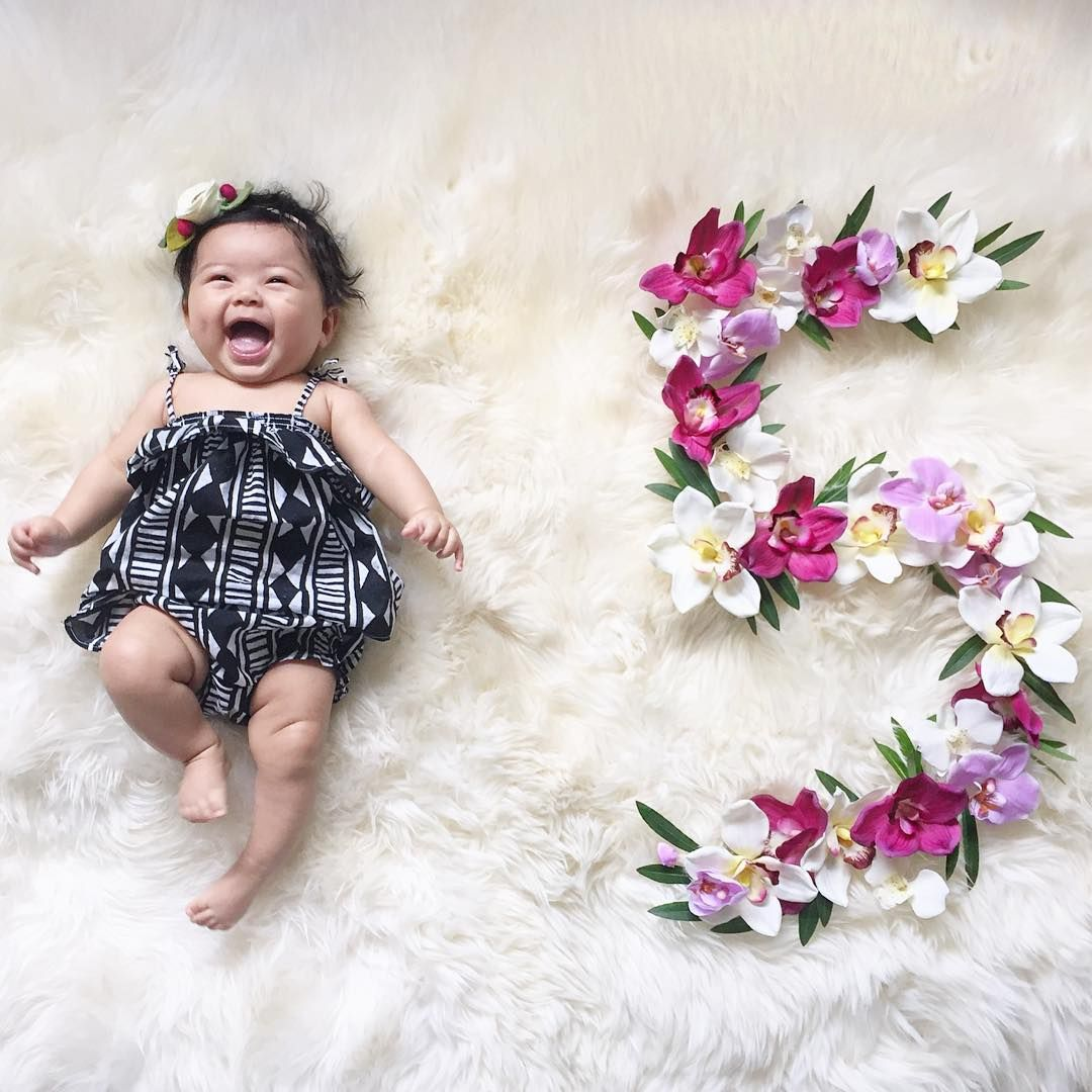 Monthly Baby Photos Baby Photoshoot Girl Baby Month By Month