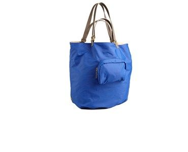 KOOBA 'AUDRA' REVERSIBLE HANDLE BLUE TOTE
