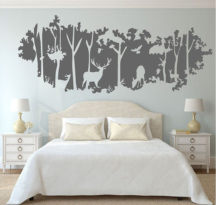 Deer nursery wall decals deer nursery living room for Deer wall mural