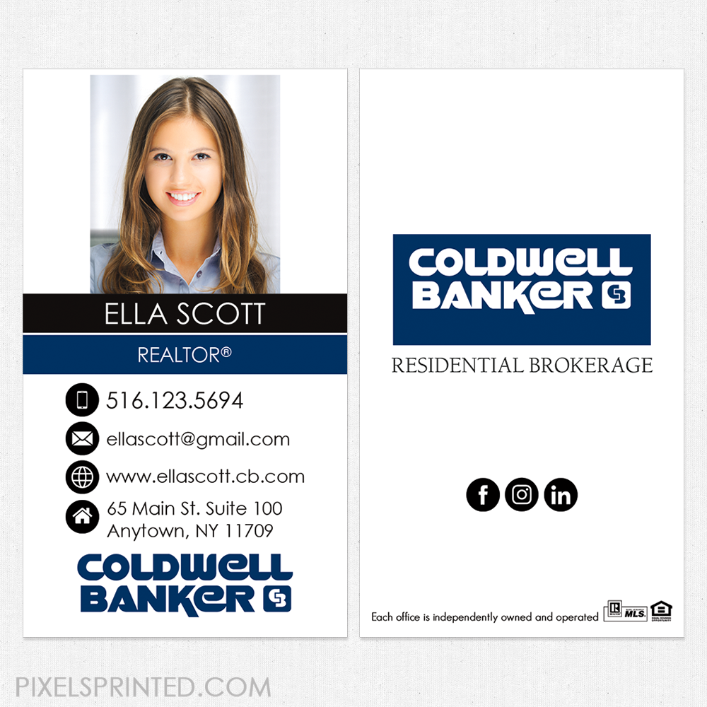 Coldwell business cards, Coldwell Banker business cards, Coldwell ...