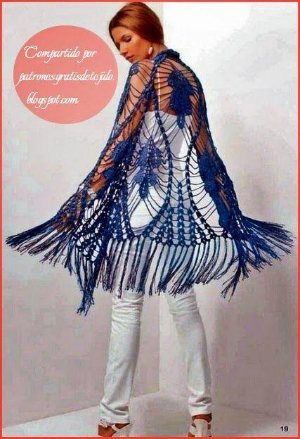 Patrones para tejer chal triangular con ganchillo | crochet chales ...