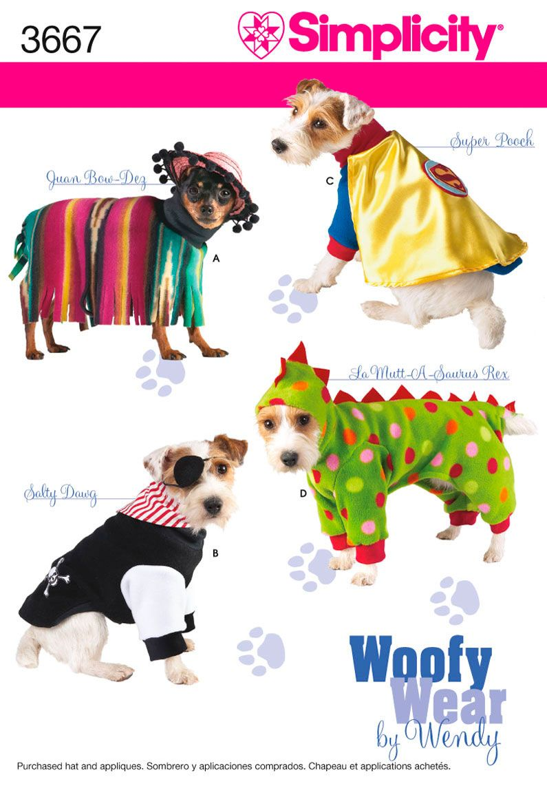 THEY MAKE PATTERNS FOR DOG CLOTHES?!!!! Simplicity : 3667 | Pups ...