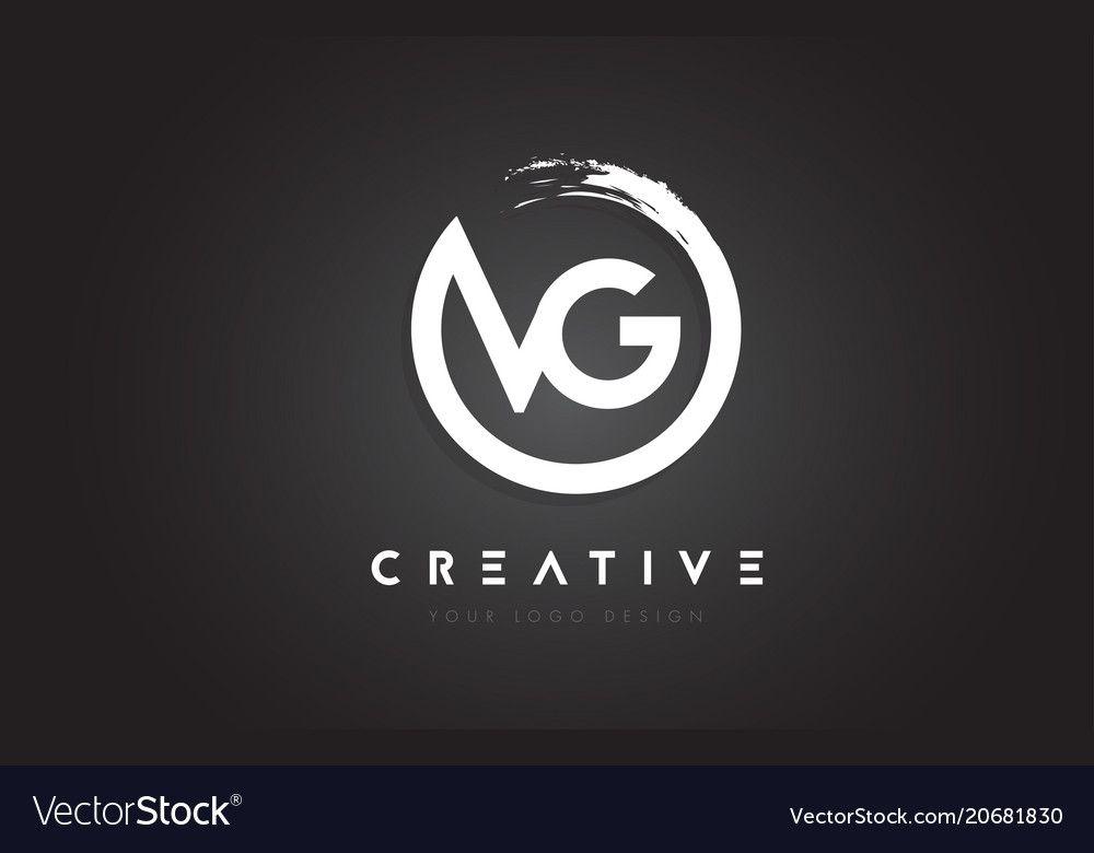 Vg Circular Letter Logo With Circle Brush Design Vector Image On Vectorstock Letter Logo Design Clean Logo Design Logo Design