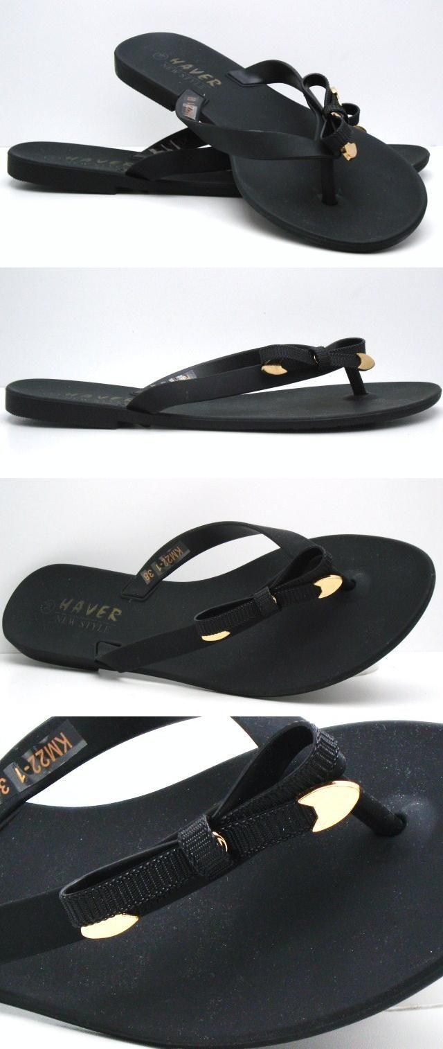 A383 Klapki Japonki Meliski Czarne Kokarda 37 Mens Flip Flop Flip Flops Shoes