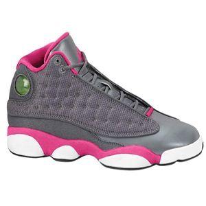 Jordan Retro 13 - Women\u0027s - Basketball - Shoes - Cool Grey/Fusion Pink/