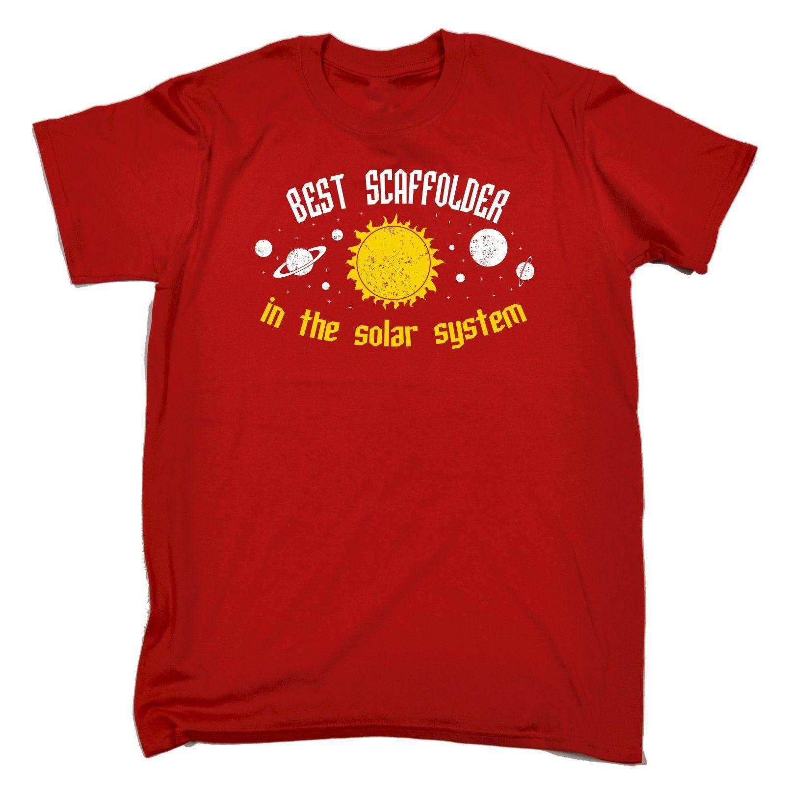 123t USA Men's Best Scaffolder In The Solar System Galaxy Design Funny T-Shirt