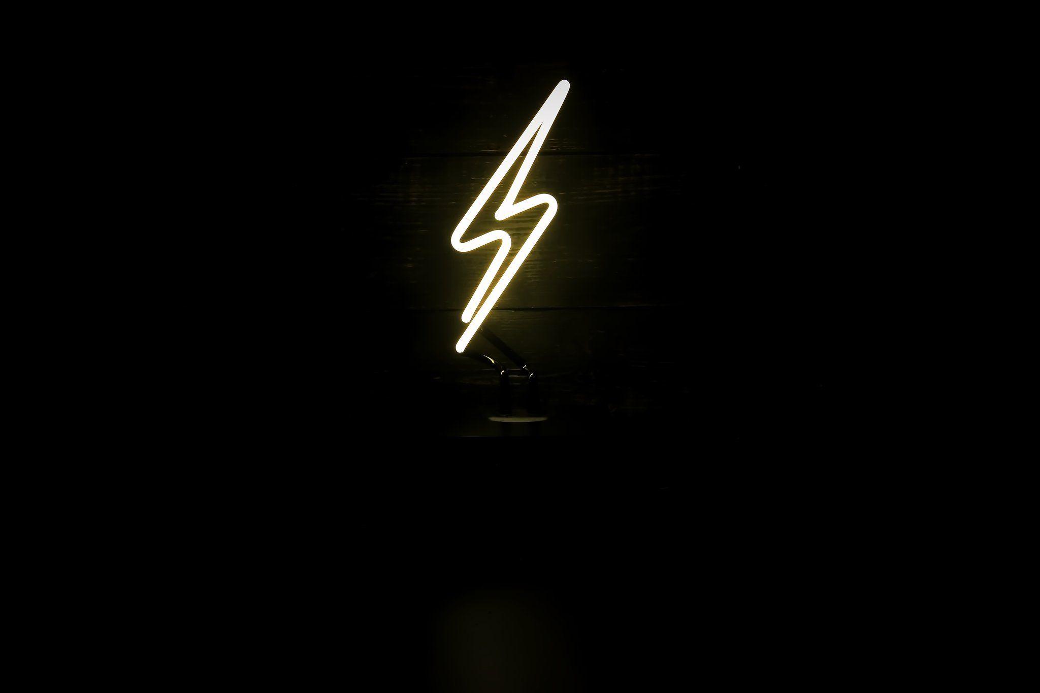 Lightning Bolt Desktop Neon By Noble Gas Industries Neon Signs Neon Words Bolt Tattoo