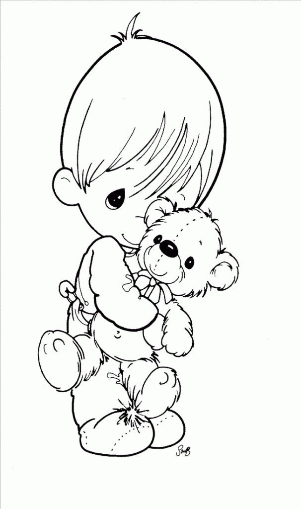 me and my bear precious moments coloring pages