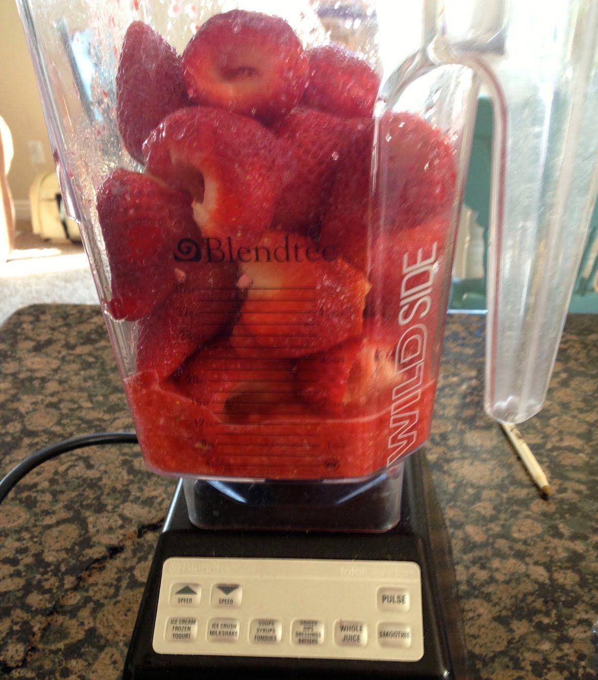 Blendtec strawberry freezer jam no cooking youtube