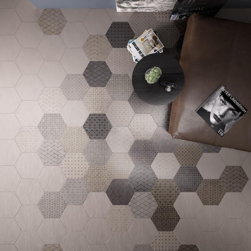 Sainte maxime almond decor hexagon 300 x 260mm as a hexagonal floor sainte maxime almond decor hexagon 300 x 260mm as a hexagonal floor tile the dailygadgetfo Image collections