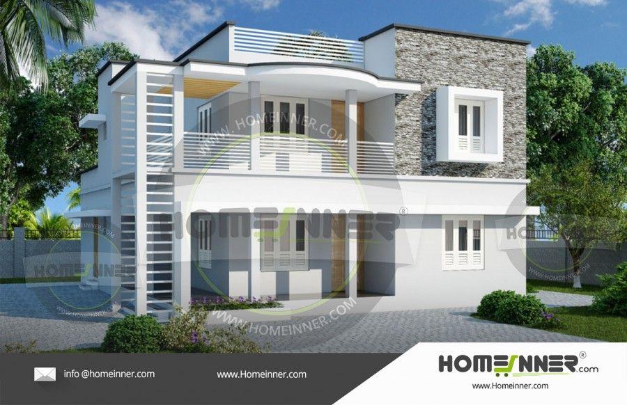 2500 Sq Ft 4 Bhk Home Plan For Medium Budget Homes Contemporary House Plans Contemporary House House Design