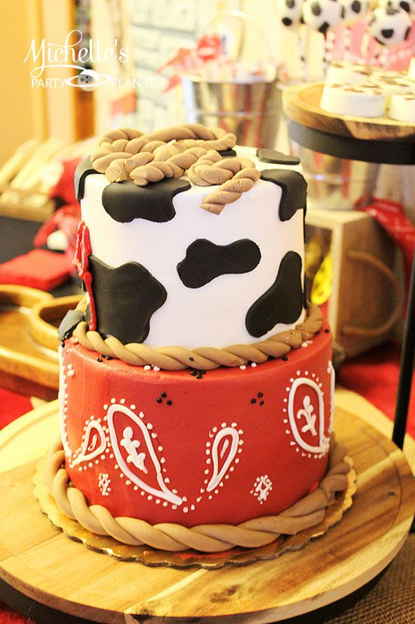 Cowboy RoundUp Birthday Celebration Cowboy party Birthday