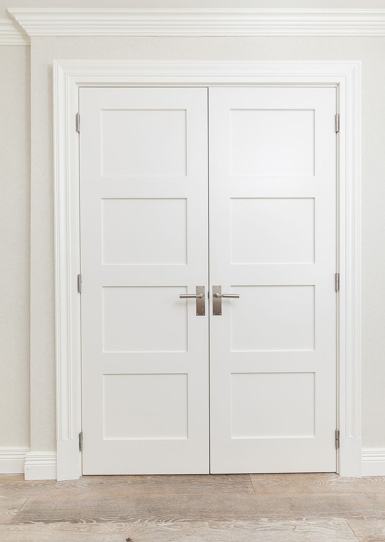 Shaker Style Double Door And Architraves Double Doors Interior Interior Door Styles Double Closet Doors