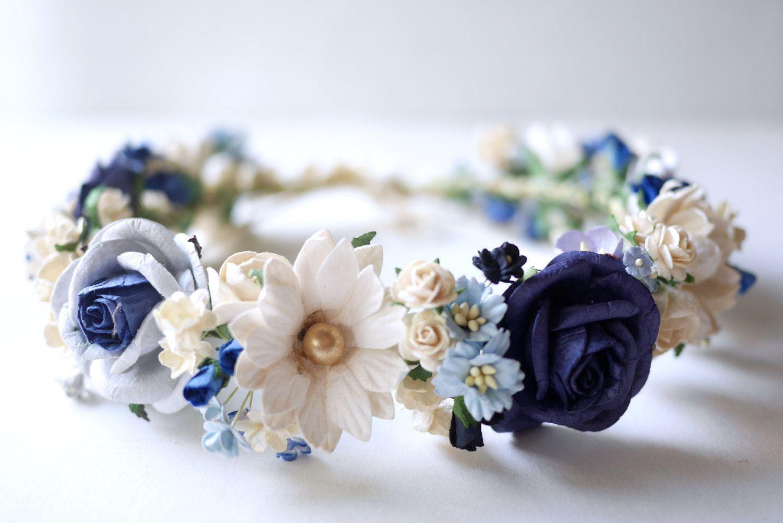 Resultado de imagen de tocados primera comunión flores azules