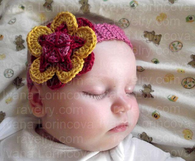 Ravelry: Funky Flower Headband pattern by Ivana L. | Crochet for ...