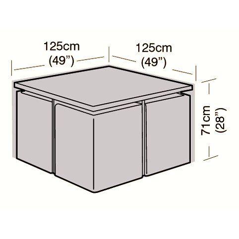 4 Seater Medium Rattan Cube Set Cover - 125cm Pinterest Set