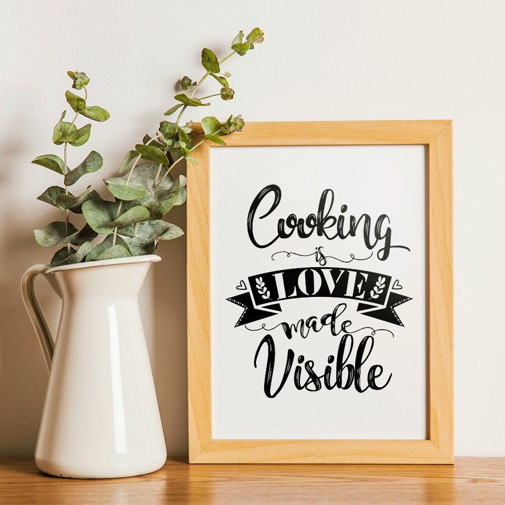 kitchen printable cooking quotes cooking gift cooking etsy etsy free on kitchen quotes id=44820