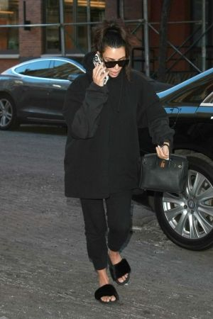58e58e478bb3d www.wannabesuburbanrockstar.com Kim Kardashian wearing Givenchy Mink Fur  Slides