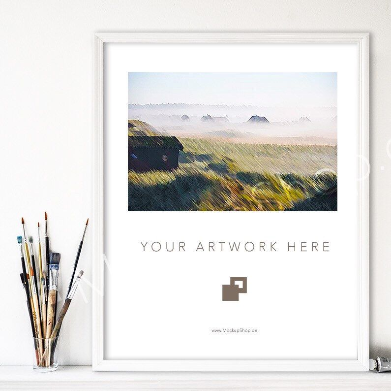 Your new white Frame Mockup in 8x10\