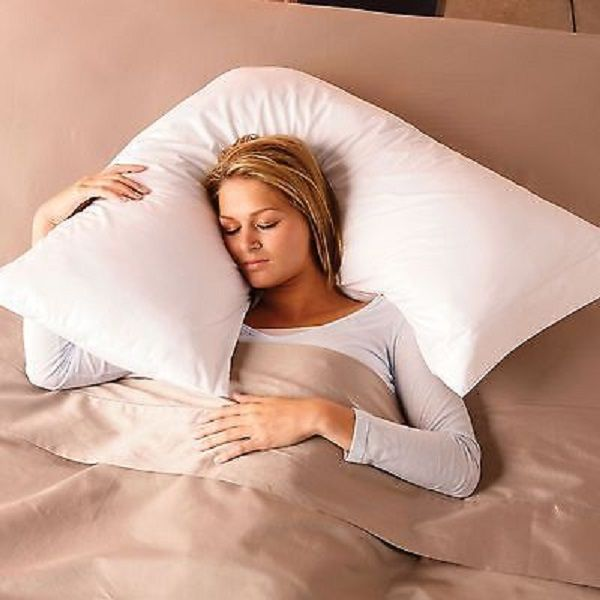 v boomerang shaped neck and back pillow