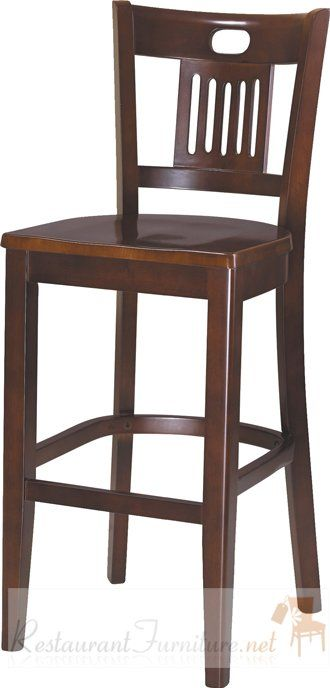 Deco wooden bar stool perlas en 2019 sillas de madera - Sillas de barra de bar ...