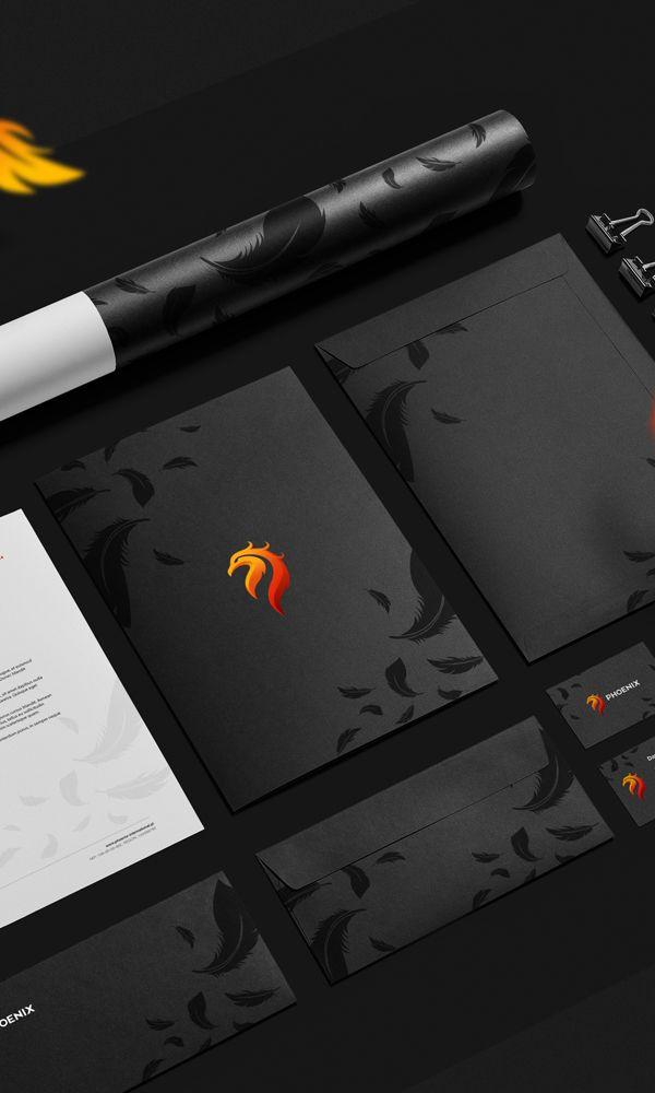 Phoenix International by ivision.pl, via Behance #branding #identity ...