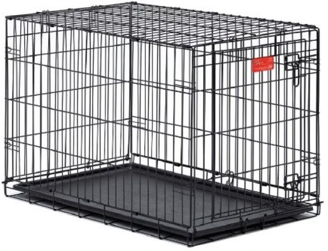 Dog Cage Kennel Crate Pet MidWest Life Stages Double Door Folding