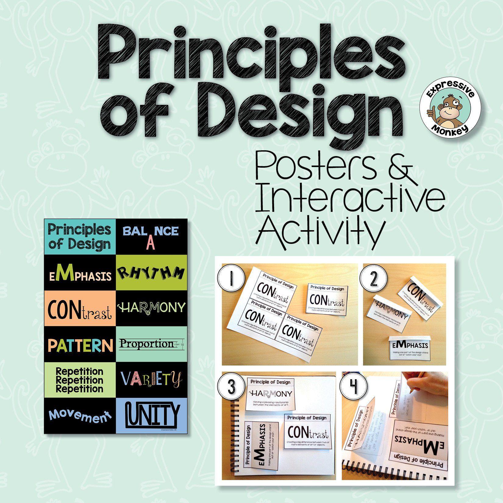 Principles Of Design Posters Amp Interactive Activities In