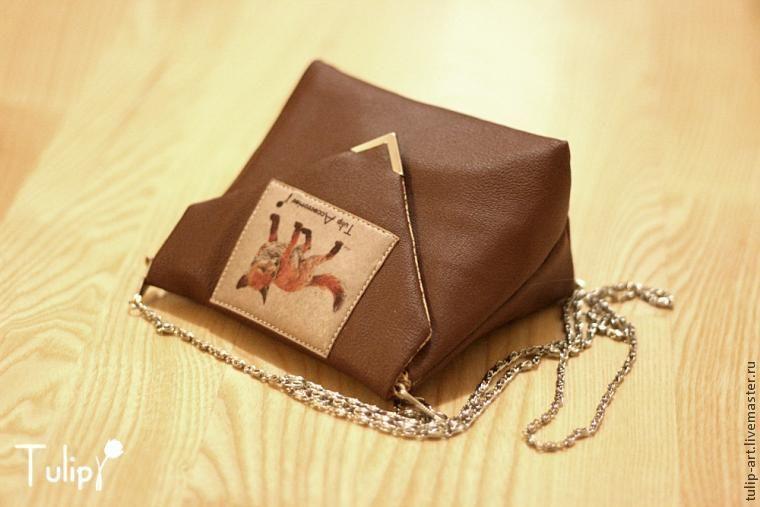 Маленькая лисья сумочка своими руками - Ярмарка Мастеров - ручная работа,  handmade 30f361daf4b