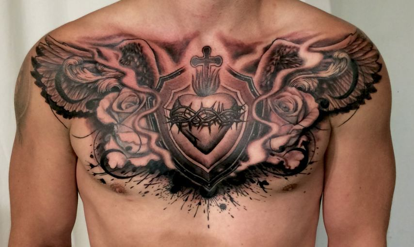 Chest Tattoos For Men And Women Dragon Chest Tattoos Chest Tattoo Men Tattoos For Guys Chest Piece Tattoos