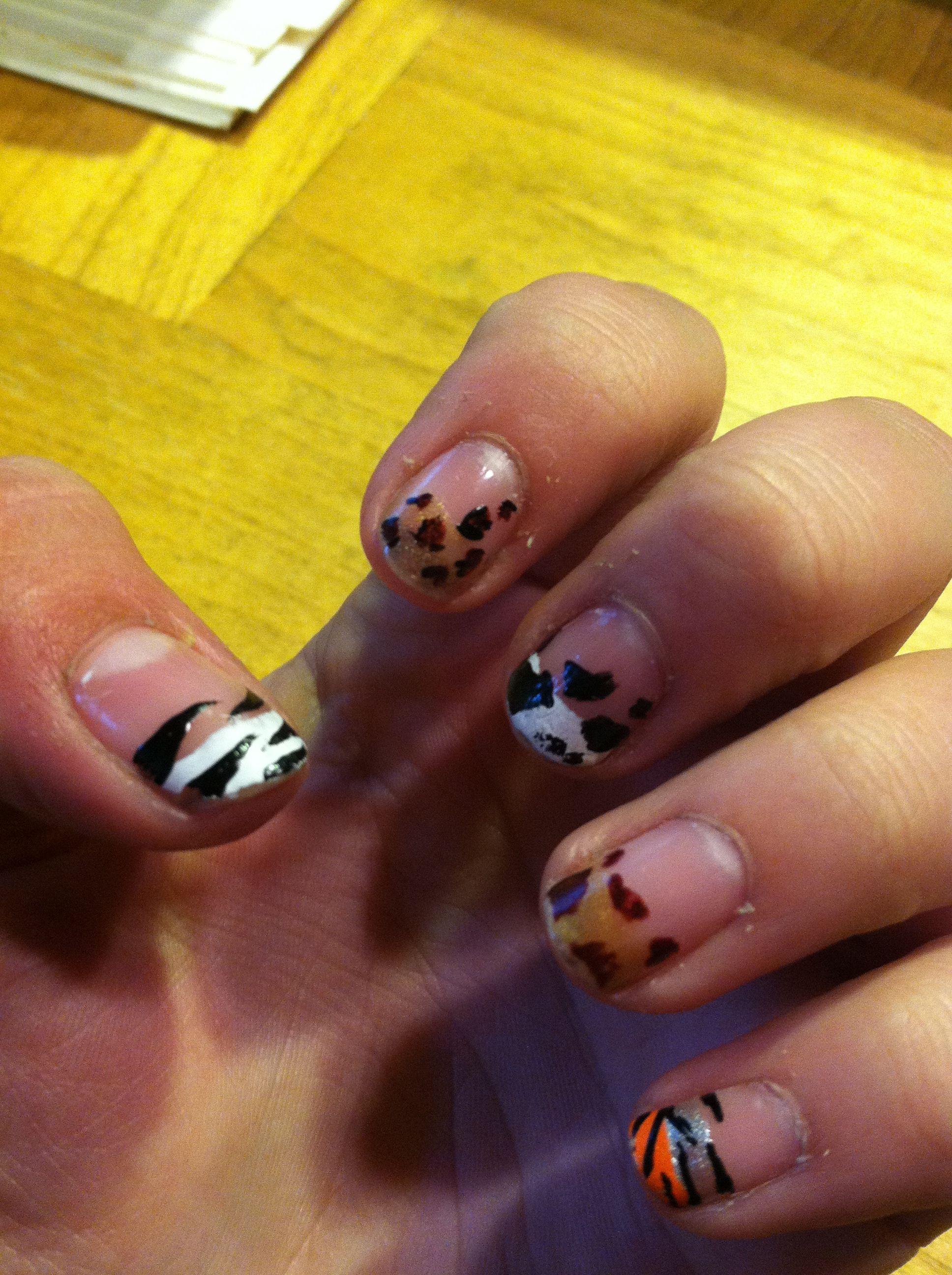 Animal nails :)   Nails   Pinterest