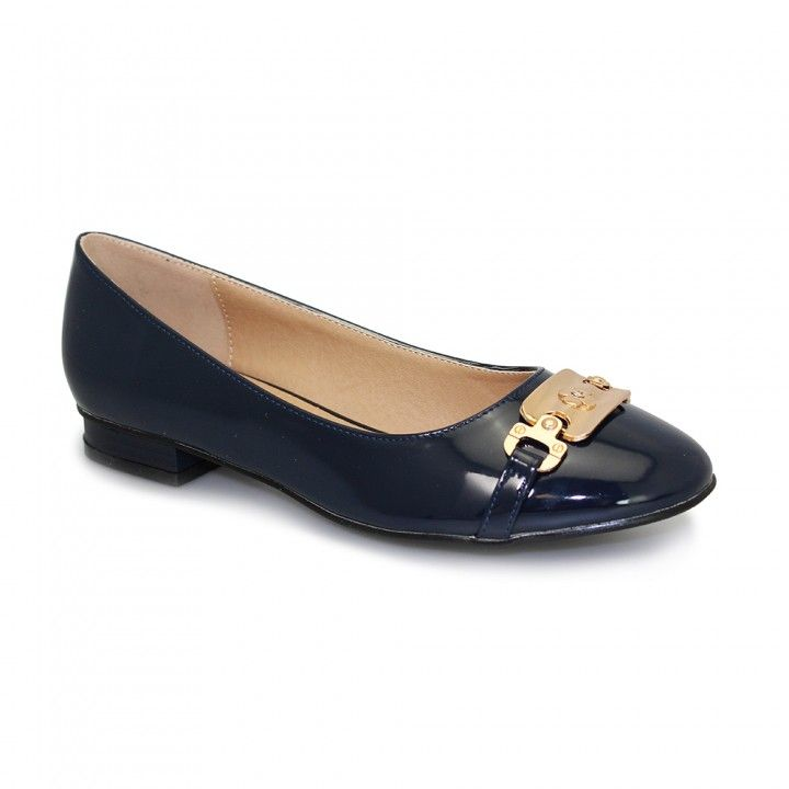Image result for navy flats with gold buckle